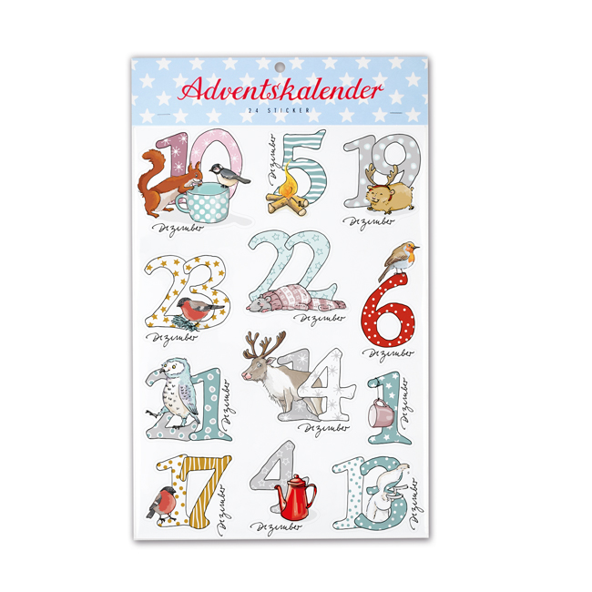 Adventskalender-Sticker Schneetiere