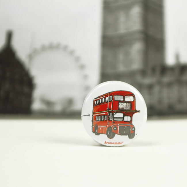 Button Londonbus