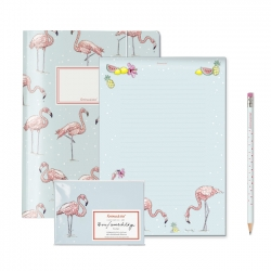 Briefset Flamingo