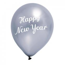 Luftballon New Year Silber