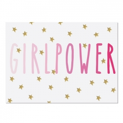 Postkarte Girlpower