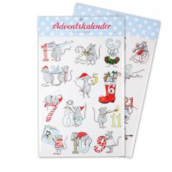 Sticker Adventskalender Mäuse