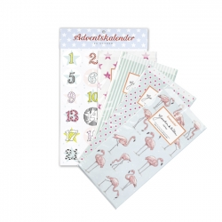 Adventskalenderset Flamingo