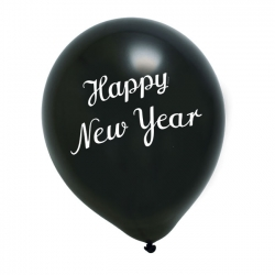 Luftballon New Year Schwarz