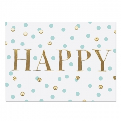 Postkarte Happy (Gold)