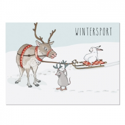 Postkarte Wintersport