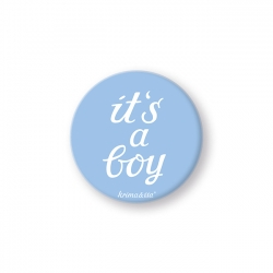 Button it´s a boy