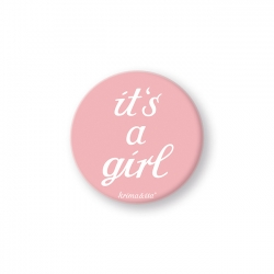 Button it´s a girl