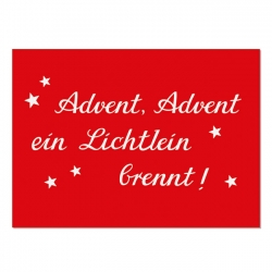 Postkarte Advent, Advent