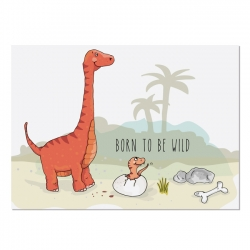 Postkarte Dino Born to be wild 2