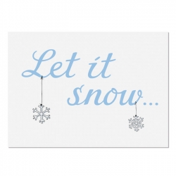 Postkarte Let it Snow