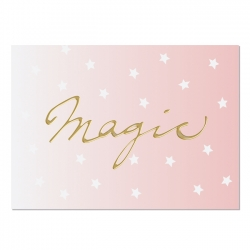 Postkarte Magic (Gold)