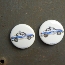 Button Polizeiauto