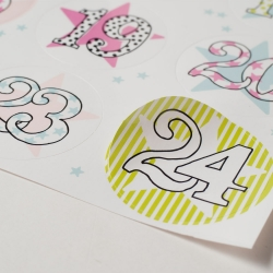 Adventskalender-Sticker Sterne